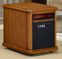 Compact infrared heater for home
