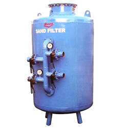 Water filter with sand